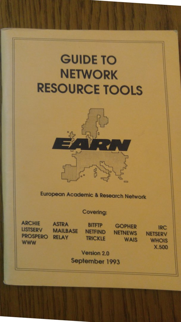 1993 - Guide-to-network-resource-tools